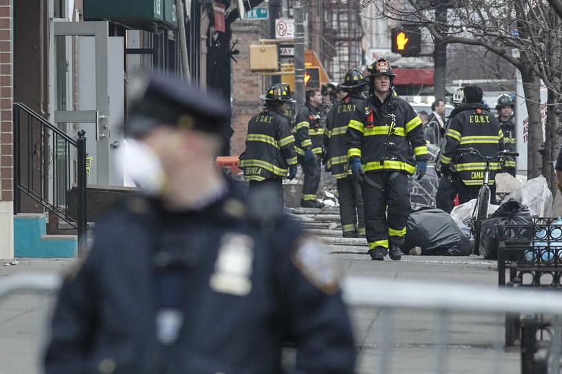 Do eksplozji i pożaru budynku doszło w nowojorskim Harlemie. /AFP