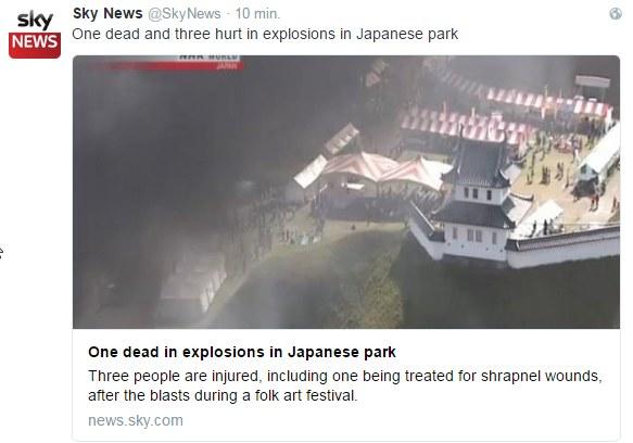 Do eksplozji w pobliżu parku /Twitter