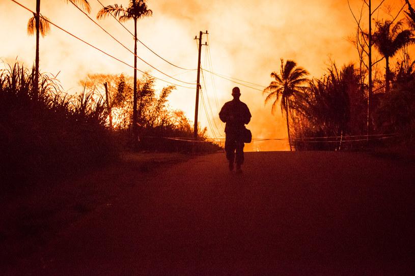 Do erupcji wulkanu Kilauea dochodzi nieprzerwanie od ponad 30 lat /Ronit FAHL /AFP
