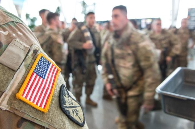 Do Goleniowa przybyło blisko 200 amerykańskich żołnierzy z Kolorado w Stanach Zjednoczonych /Maciej Kulczyński /PAP