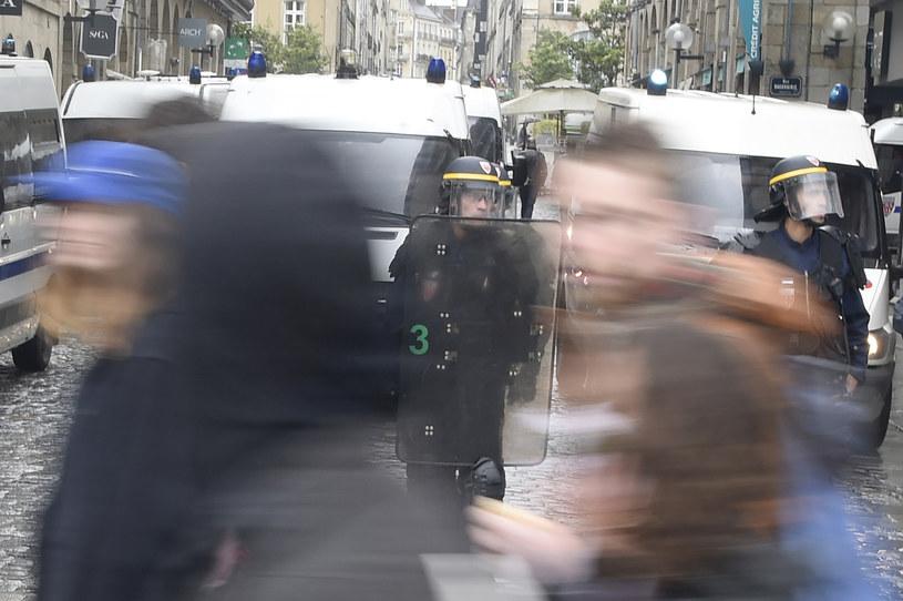 Do gwałtownych zamieszek doszło w Rennes /AFP
