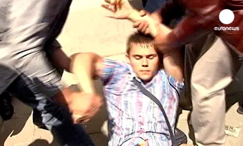 Do incydentu z udziałem Bronisława Komorowskiego doszło w Łucku na Ukrainie. /Euronews /PAP