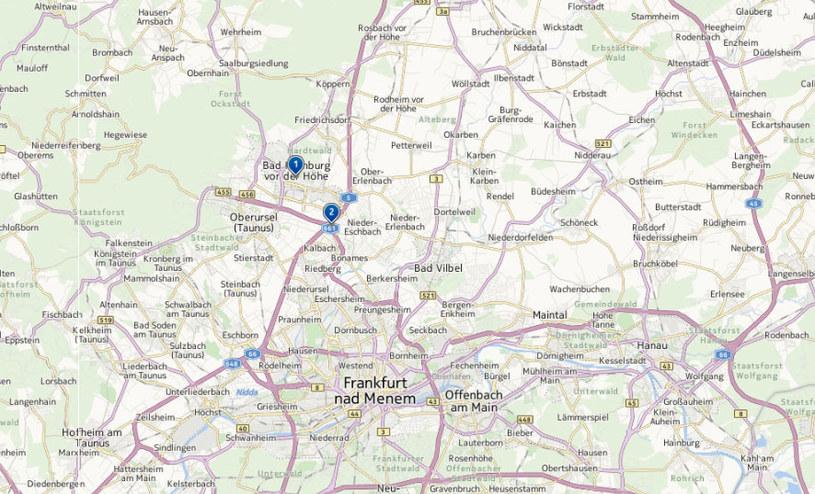 Do katastrofy doszło w miejscowości Bad Homburg niedaleko Frankfurtu. /http://mapy.interia.pl /INTERIA.PL