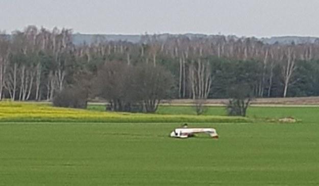 Do lądowania doszło w miejscowości Brzóza w powiecie kozienickim na Mazowszu /Gorąca Linia RMF FM