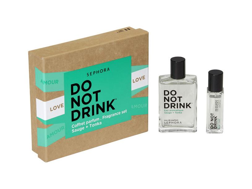 DO NOT DRINK - ZESTAW PERFUM SZAŁWIA + TONKA /materiały prasowe