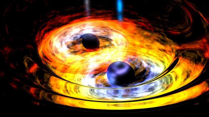 Do powstania gwiazd poruszających się z prędkością zbliżoną do prędkości światła powstaje w wyniku scalania się czarnych dziur /NASA