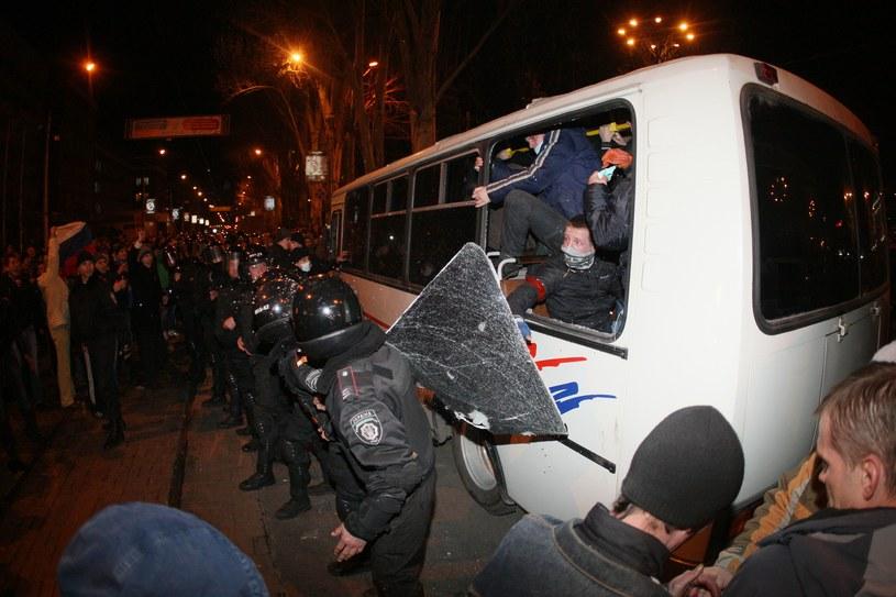 Do starć doszło w Doniecku na wschodzie kraju. /AFP