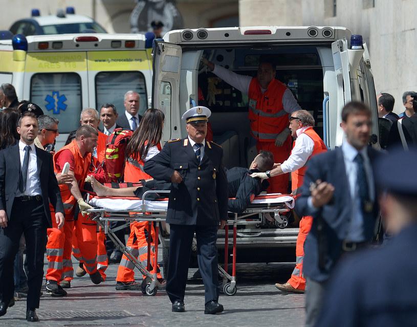 Do strzelaniny doszło przed kancelarią premiera /AFP