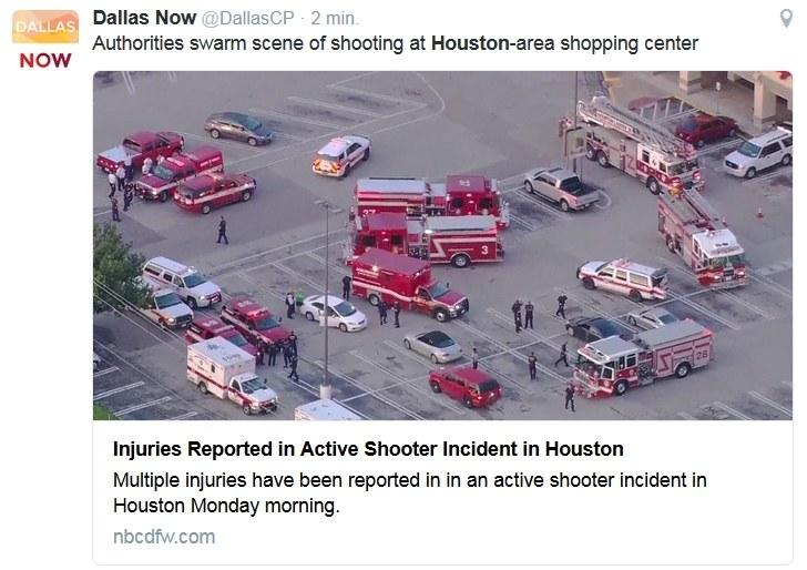 Do strzelaniny doszło w poniedziałkowy poranek /Twitter