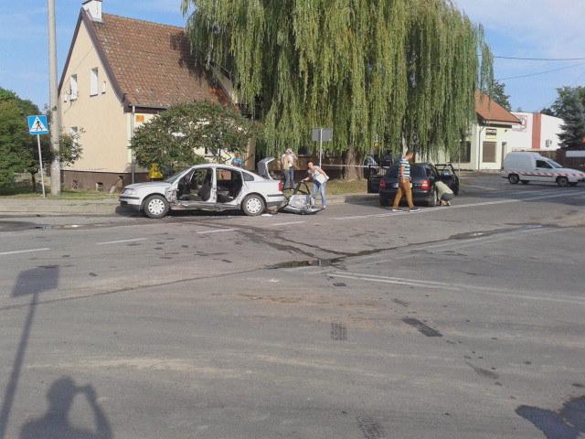 Do szpitala trafiło pięć osób, które jechaly autem osobowym /Piotr Bułakowski /RMF FM