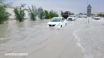 Do takiego widoku Katarczycy nie przywykli. Ulicami płynął potok wody
