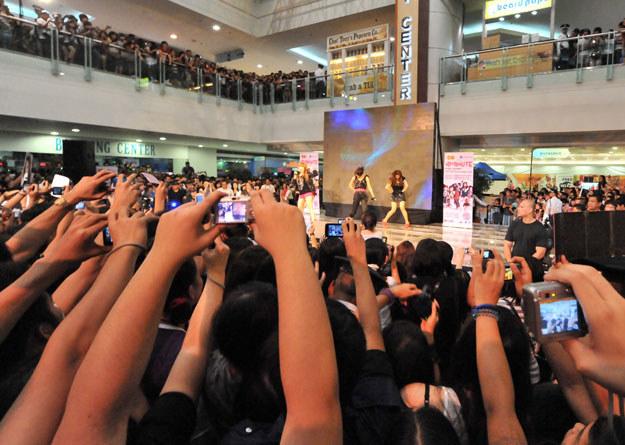 Do tragedii doszło podczas koncertu girlsbandu 4Minute fot. Ted Aljibe /AFP