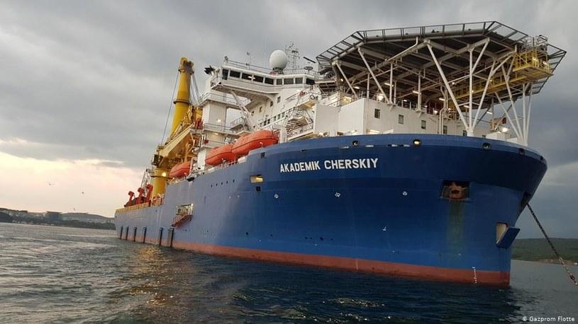 Do ukończenia gazociągu Rosjanie chcą użyć własnego statku Akademik Czerski /Informacja prasowa