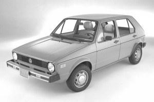 Do USA pierwszy Golf trafił w 1975 roku jako Rabbit. Trzy lata później produkcja modelu ruszyła w Pensylwanii. /Volkswagen
