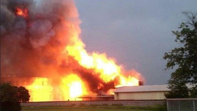 Do wybuchu doszło w fabryce nawozów, fot. Twitter /