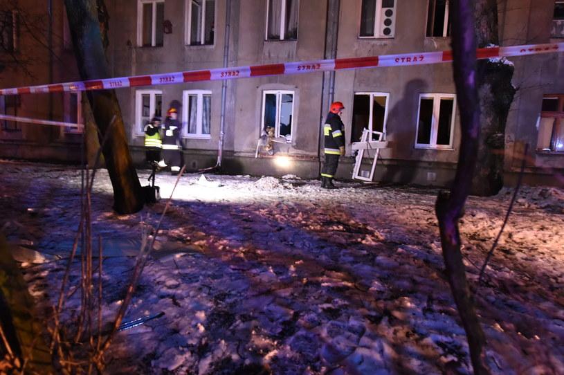Do wybuchu doszło w jednej z kamienic w Łodzi /Grzegorz Michałowski /PAP