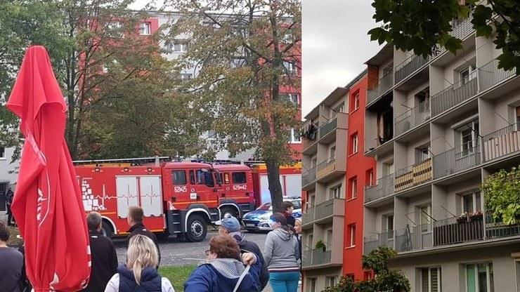 Do wybuchu doszło w mieszkaniu na III piętrze (po prawej). Zdjęcie od czytelnika Polsat News /Polsat News
