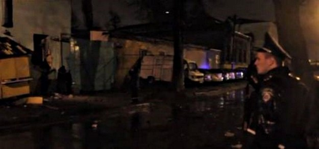 Do wybuchu doszło w ośrodku wsparcia dla żołnierzy /fot. Hromadske TV /