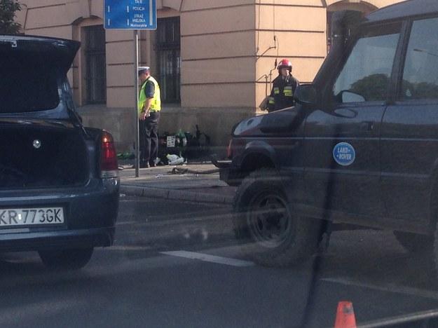 Do wypadku doszło na Alejach, na wysokości ul. Czarnowiejskiej /INTERIA.PL