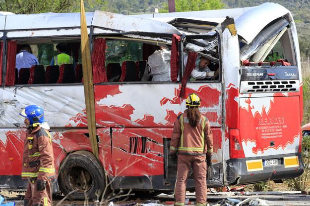 Do wypadku doszło na autostradzie około 150 km na południe od Barcelony /AFP