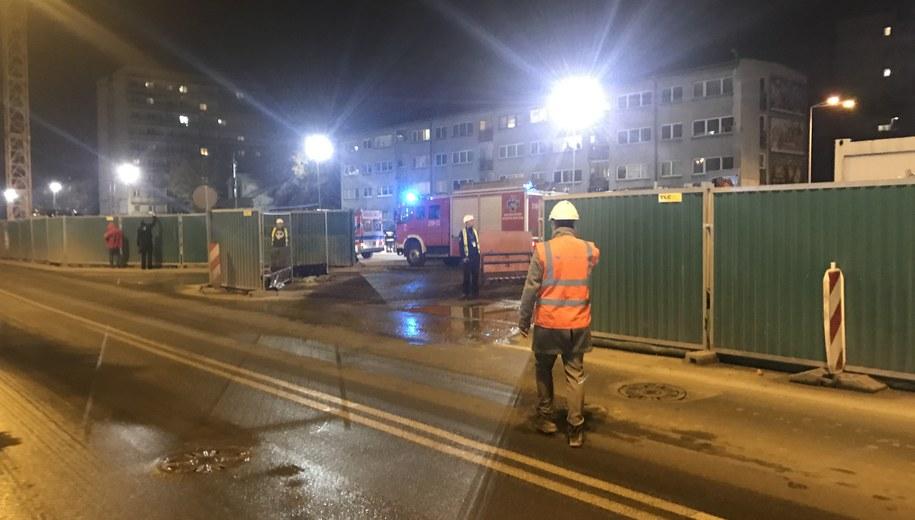Do wypadku doszło na budowie II linii metra /Michał Dobrołowicz /RMF FM