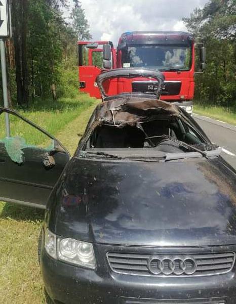 Do wypadku doszło na dk 812 /Policja Lubelska /materiały prasowe