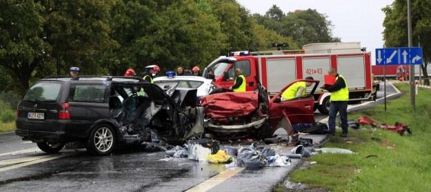 Do wypadku doszło na prostej drodze /PAP