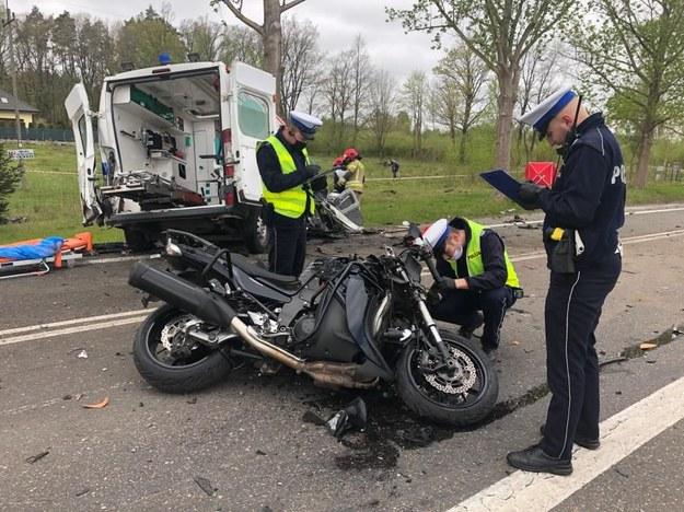 Do wypadku doszło na trasie Słupsk-Ustka przed miejscowością Bydlino. /Policja