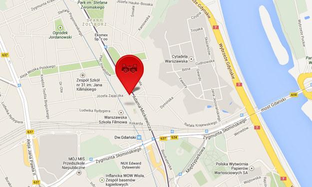 Do wypadku doszło na ul. Gen. Zajączka w Warszawie. /maps.google.pl /INTERIA.PL
