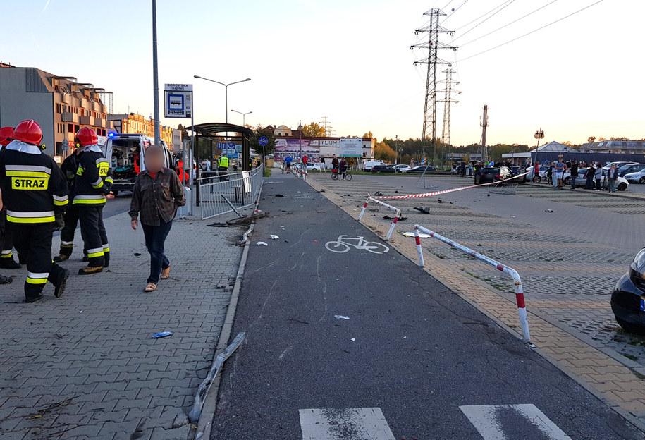 Do wypadku doszło na ulicy Borowskiej /ReporterWRO /Gorąca Linia RMF FM