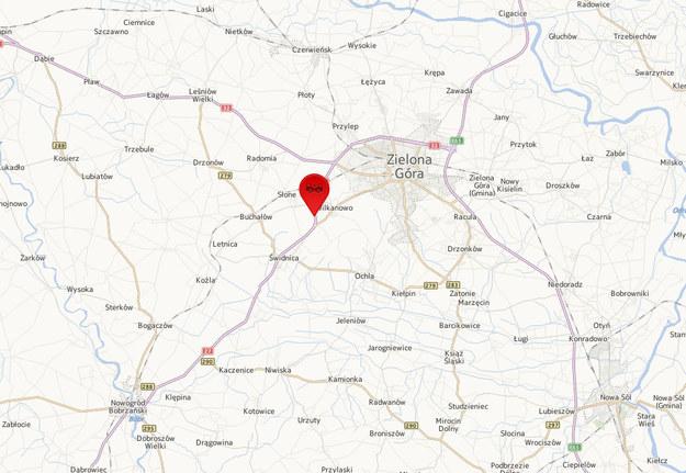 Do wypadku doszło na wysokości Wilkanowa /Mapy.interia.pl /INTERIA.PL