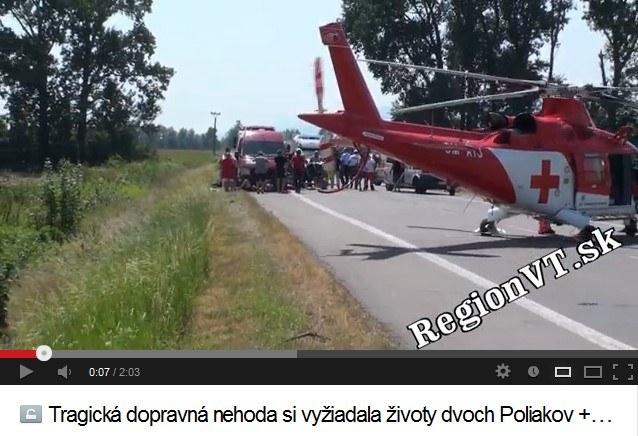 Do wypadku doszło niedaleko miejscowości Vranov nad Topl'ou /RegionVT.sk /YouTube