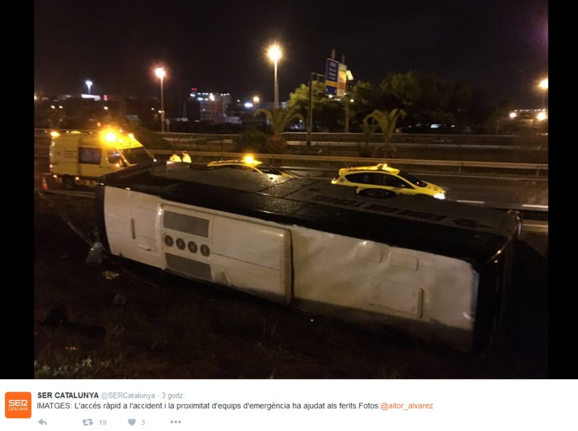 Do wypadku doszło podczas opadów deszczu /Twitter