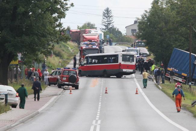 Do wypadku doszło tuż przed godz. 9. /Stanisław Rozpędzik /PAP