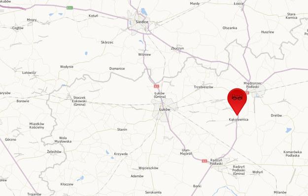 Do wypadku doszło w Kąkolewnicy /Mapy.interia.pl /INTERIA.PL