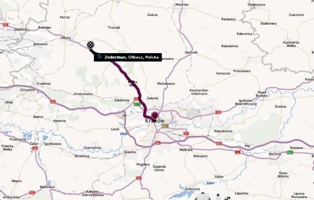 Do wypadku doszło w miejscowości Zederman w powiecie olkuskim /