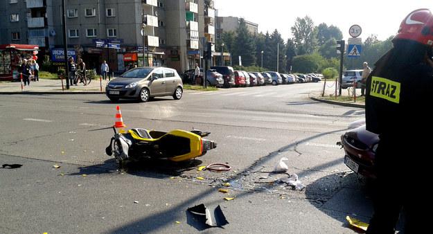 Do wypadku doszło w okolicy ronda Piasta Kołodzieja. /INTERIA.PL