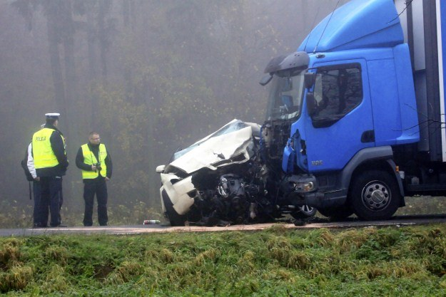 Do wypadku doszło we mgle /PAP