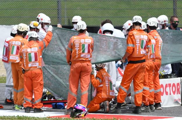 Do wypadku na torze Mugello doszło w drugiej sesji kwalifikacyjnej, między 9. a 10. zakrętem /Claudio Giovannini /PAP/EPA