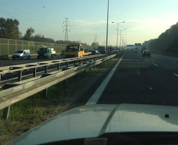 Do zdarzenia doszło na 424. kilometrze A4 /INTERIA.PL