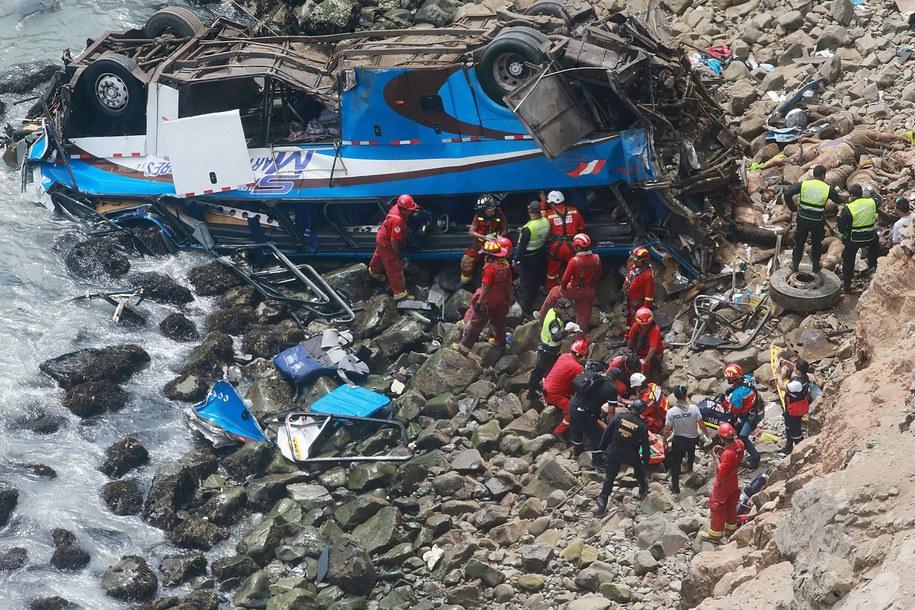 Do zdarzenia doszło na tzw. diabelskim zakręcie /Vidal Tarqui / HANDOUT  /PAP/EPA