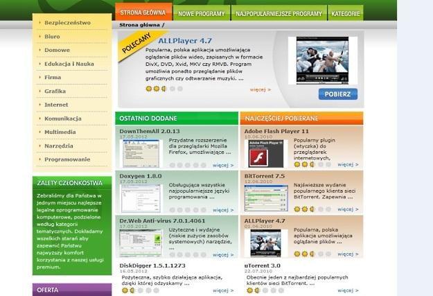 Dobre-programy.pl - strona główna. Kolejny dowód na to, że należy być ostrożnym w internecie /Internet