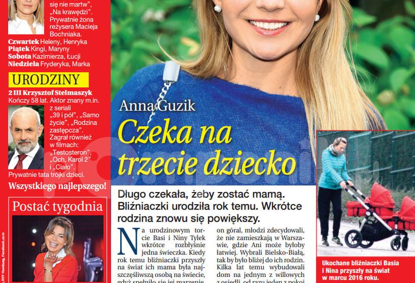 """""""Dobry Tydzień"""" donosi, że Anna Guzik jest w ciąży! /Dobry Tydzień"""