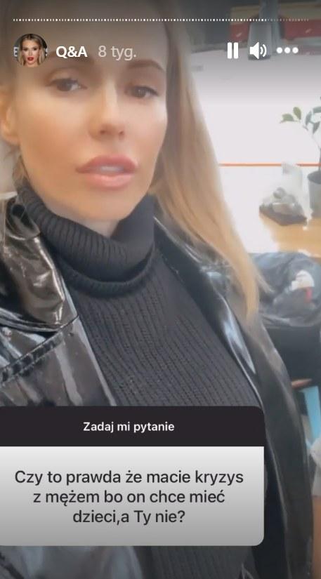 Doda odpowiedziała na pytanie od fanów    ///https://www.instagram.com/dodaqueen/ /Instagram