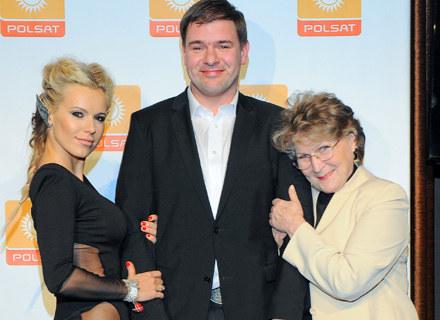 Doda, Tomasz Karolak i Irena Santor, fot. Paweł Przybyszewski /MWMedia