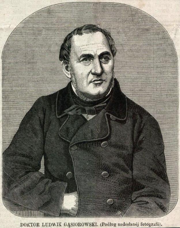 """Doktor Ludwik Gąsiorowski (Aleksander Regulski. Ryc. z: """"Tygodnik Ilustrowany"""", 1864, nr 251 s. 261) /Biblioteka Narodowa"""