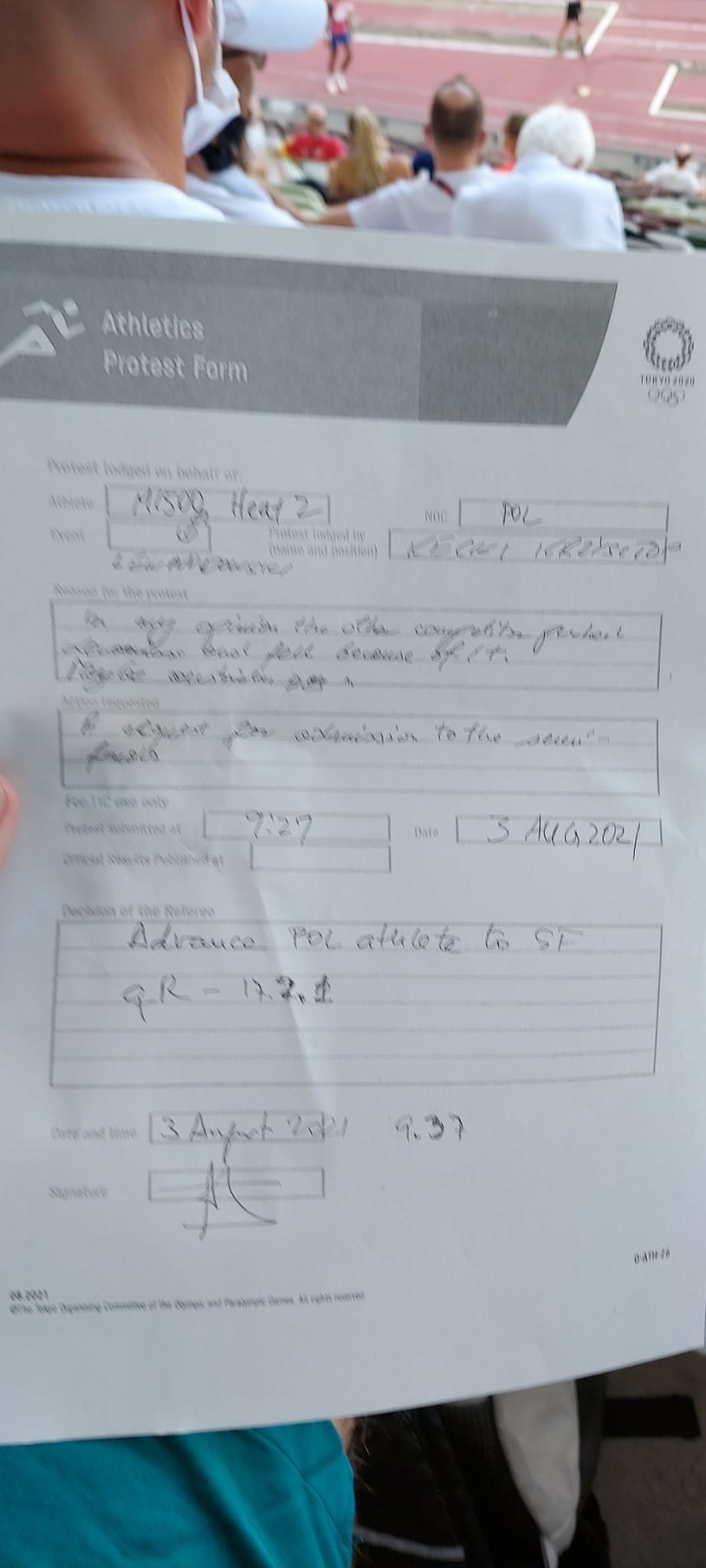 Dokument z protestem, udostępniony przez Krzysztofa Kęckiego /