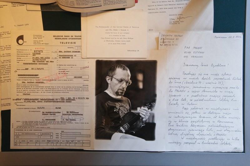 Dokumenty z archiwum Zbigniewa Seiferta przekazane do Archiwum Jazzu Polskiego Biblioteki Narodowej w Pałacu Krasińskich w Warszawie /PAP/Rafał Guz /PAP