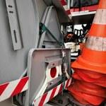 Dolnośląskie: Ciężarówka wojskowa zderzyła się z radiowozem