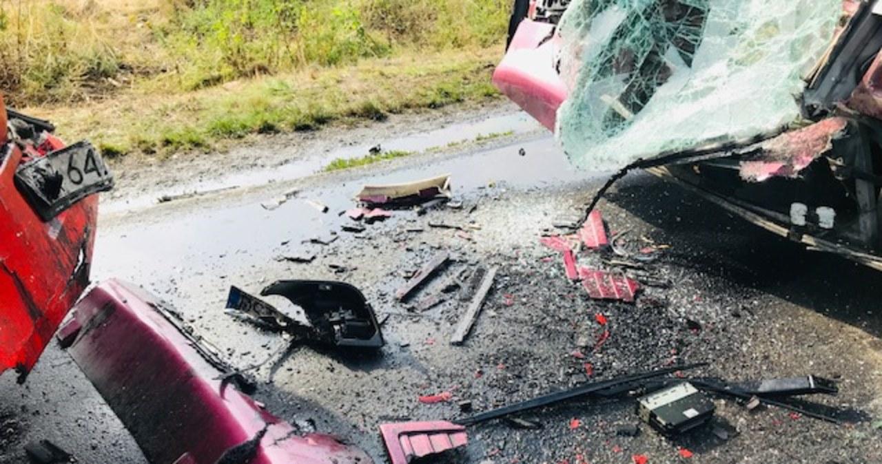 Dolny Śląsk: 27 osób rannych w zderzeniu autokarów
